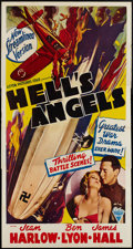 "Movie Posters:War, Hell's Angels (Astor, R-1940s). Three Sheet (41"" X 81""). War.. ..."