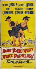 "Movie Posters:Comedy, How to Be Very, Very Popular (20th Century Fox, 1955). Three Sheet (41"" X 81""). Comedy.. ..."