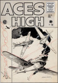 Original Comic Art:Covers, George Evans Aces High #5 Cover Original Art (EC, 1955)....