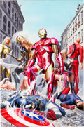 Original Comic Art:Covers, Alex Ross Avengers Invaders #2A Cover Original Art(Marvel/Dynamite, 2008)....