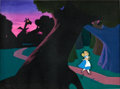 Animation Art:Production Cel, Alice In Wonderland Deleted Jabberwocky Scene Production Cel and Background Animation Art (Disney, 1951)....