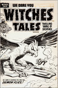Original Comic Art:Covers, Al Avison Witches Tales #28 Cover Original Art (Harvey,1954)....