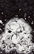 Original Comic Art:Covers, Bruce Timm and Keith Giffen Fantastic Four: World's GreatestComic Magazine #7 Cover Original Art (Marvel, 2001)....