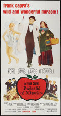 "Movie Posters:Comedy, Pocketful of Miracles (United Artists, 1962). Three Sheet (41"" X 81""). Comedy.. ..."