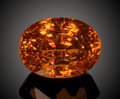Gems:Faceted, FINE GEMSTONE: TANGERINE ORANGE SPESSARTITE - 8.34 CT.. ...