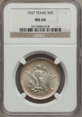 Commemorative Silver: , 1937 50C Texas MS66 NGC. NGC Census: (351/74). PCGS Population(350/85). Mintage: 6,571. Numismedia Wsl. Price for problem ...