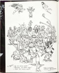 Original Comic Art:Illustrations, Original Art by Peter Laird And Others: Personalized Frontispiece in Teenage Mutant Ninja Turtles Volume One Limited Edition 1...