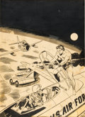 Original Comic Art:Covers, Wally Wood Rocket's Blast Comicollector #54 Cover OriginalArt (G. B. Love, 1968)....