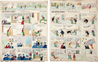 Harry Tuthill The Bungle Family Hand Colored Sunday Comic Strip Original Art Group (McNaught Syndicate, 1924-29).... (To...