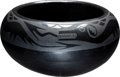 Political:Presidential Relics, American Indian Black on Black Pottery Bowl by Blue Corn, Benefiting Lady Bird Johnson Wildflower Center....