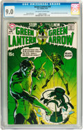 Bronze Age (1970-1979):Superhero, Green Lantern #76 (DC, 1970) CGC VF/NM 9.0 Off-white to whitepages....