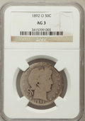 Barber Half Dollars: , 1892-O 50C AG3 NGC. NGC Census: (0/278). PCGS Population (29/427).Mintage: 390,000. Numismedia Wsl. Price for problem free...