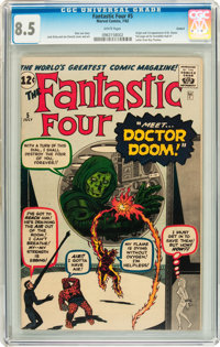 Fantastic Four #5 Circle 8 pedigree (Marvel, 1962) CGC VF+ 8.5 White pages