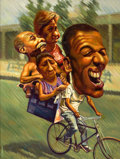 Latin American:Contemporary, YOANDY CARRAZANA (Cuban). Carrying on Bike, 2006. Oil oncanvas. 37 x 27-1/2 inches (94.0 x 69.9 cm). Signed lower left:...