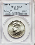 SMS Kennedy Half Dollars: , 1998-S 50C Silver SMS MS69 PCGS. PCGS Population (1984/236). NGCCensus: (1058/325). Numismedia Wsl. Price for problem fre...