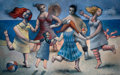 Latin American:Contemporary, ALBERTO DIAZ (Cuban). Tarde en la playa, 1954. Mixed mediaon canvas. 49 x 78 inches (124.5 x 198.1 cm). Initialed, titl...