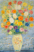 Impressionism & Modernism:post-Impressionism, MICHELE CASCELLA (Italian, 1892-1989). Fleurs dans une vase.Oil on canvas. 36 x 24 inches (91.4 x 61.0 cm). Signed lowe...