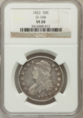 Bust Half Dollars, 1822 50C VF20 NGC. O-104. NGC Census: (7/547). PCGS Population(10/706). Mintage: 1,559,573. Numismedia Wsl. Price for prob...