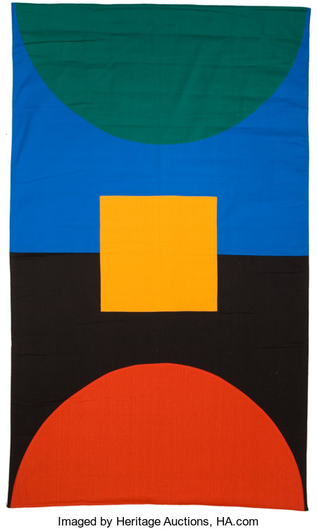 MATT MULLICAN (American, b. 1951)Untitled (Subjective Sign, - World Unframed, Elemental), 1982Cotton56 x 33 inches...