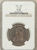 Bust Half Dollars, 1831 50C VF20 NGC. O-104. NGC Census: (11/1450). PCGS Population(5/1612). Mintage: 5,873,660. Numismedia Wsl. Price for pr...