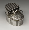 Silver Smalls:Snuff Boxes, A Continental Silver Snuff Box. Unknown maker, Continental. Circa1895-98. Silver. Marks: (unidentified marks), (lion pas...
