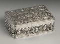 Silver Smalls:Snuff Boxes, A Continental Silver Plate Snuff Box. Unknown maker, Continental.Ninenteenth Century. Silver plate with gold wash. Unmark...