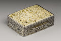 Silver Smalls:Snuff Boxes, A Continental Silver and Ivory Snuff Box. Unknown maker,Continental. Nineteenth Century. Silver, silver gilt and ivory.U...