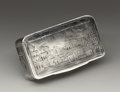 Silver Smalls:Snuff Boxes, A Russian Silver Snuff Box. Unknown maker, Moscow, Russia. 1836.Silver. Marks: (assay mark of Nikolai Lukich Dubrovin), ... (Total:1 Item)