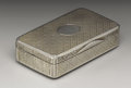 Silver Smalls:Snuff Boxes, A Russian Silver Snuff Box . Unknown maker, Moscow, Russia. 1867.Silver and silver gilt. Marks: (Moscow), 84, B.C. o...