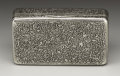 Silver Smalls:Snuff Boxes, A Russian Silver Snuff Box. Karl Verlin, St. Petersburg, Russia.Circa 1880. Silver and silver gilt. Marks: (St. Petersbu... (Total:1 Item)