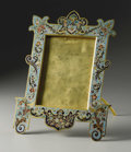 Decorative Arts, French:Other , A French Champleve Enamel Frame . Unknown maker, French. LateNineteenth/Early Twentieth Century. Champleve enamel. 15 in....