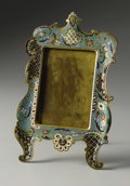 Decorative Arts, French:Other , A French Champleve Enamel Frame. Unknown maker, French. LateNineteenth/Early Twentieth Century. Champleve enamel. 11 in. ...