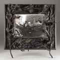 Furniture , A Wrought Iron Picture Frame. Unknown maker, possibly American. Circa 1905. Wrought and cast iron. Indistinct makers stam...