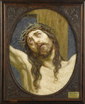 Decorative Arts, Continental:Other , A Superb Venetian Mosaic Panel: The Crucified Christ.Gianese Cav. Angelo & Co., Venice, Italy. Nineteenth Century.M...