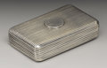 Silver Smalls:Snuff Boxes, A George III Silver Snuff Box . George Burrows, London, England.1799-1800. Silver and silver gilt. Marks: (lion passant)...