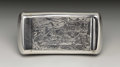 Silver Smalls:Snuff Boxes, A George III Silver Snuff Box . Unkown maker, Birmingham, England.1804-05. Silver and silver gilt. Marks: (lion passant)...