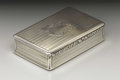 Silver Smalls:Snuff Boxes, A Victorian Silver Snuff Box . Edward Smith, Birmingham, England.1846-47. Silver and silver gilt. Marks: (lion passant),...