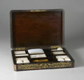 Decorative Arts, French:Other , A Napoleon III Tortoiseshell and Brass Inlaid Poker Set. Unknownmaker, Paris, France. Mid Nineteenth Century. Tortoiseshe...
