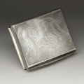 Silver Smalls:Snuff Boxes, A Mother-of-Pearl and Silver Snuff Box. Unknown maker, possiblyFrance. Nineteenth Century. Mother-of-pearl and silver. Ma...