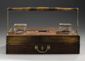 Decorative Arts, British:Other , A Victorian Mahogany Portable Writing Box. Unknown maker, England.Mid to Late Nineteenth Century. Mahogany, brass, glass,...