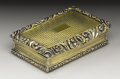 Silver Smalls:Snuff Boxes, A George III Silver Gilt Snuff Box . Thomas Pitts, London, England.1783-84. Silver gilt. Marks: (lion passant), (leopard...