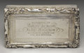 Silver Smalls:Snuff Boxes, A Georgian Silver Snuff Box. Attributed to William Shard, London,England. Circa 1815-30. Silver and silver gilt. Marks: ...