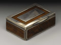 Silver Smalls:Snuff Boxes, A George IV Wood and Silver Snuff Box. Peter Arthur, Glasgow,Scotland. 1824-25. Wood, silver and silver gilt. Marks: (li...