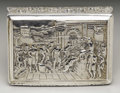 Silver Smalls:Snuff Boxes, A George III Silver Table Top Snuff Box . Thomas Shaw, Birmingham,England. 1825-26. Silver and silver gilt. Marks: (lion...
