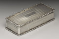 Silver Smalls:Snuff Boxes, A George IV Silver Snuff Box. Ledsam, Vale & Wheeler,Birmingham, England. 1829-30. Silver and silver gilt. Marks: (lion...