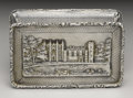 Silver Smalls:Snuff Boxes, A George IV Silver Castle-top Snuff Box. Taylor & Perry,Birmingham, England. 1831-32. Silver and silver gilt. Marks: (li...