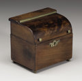 Decorative Arts, British:Other , A George III Walnut Tea Caddy. Unknown maker, England. LateEighteenth Century. Walnut and brass. Unmarked. 4.75 in. high ...