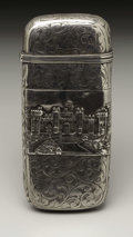 Silver Smalls:Other , A Victorian Silver Castle Top Cheroot Case. Nathaniel Mills,Birmingham, England. 1841-42. Silver. Marks: (lion passant),...