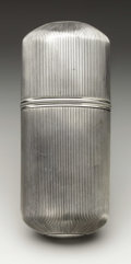 Silver Smalls:Other , A Dutch Silver Cigar Case. Unknown maker, The Netherlands. EarlyNineteenth Century. Silver. Marks: (lion), 2, IVH, H...