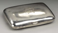 Silver Smalls:Cigarette Cases, An Edwardian Silver Cigarette Case. Walker & Hall, Sheffield,England. 1909-10. Silver and silver gilt. Marks: (lion pass...